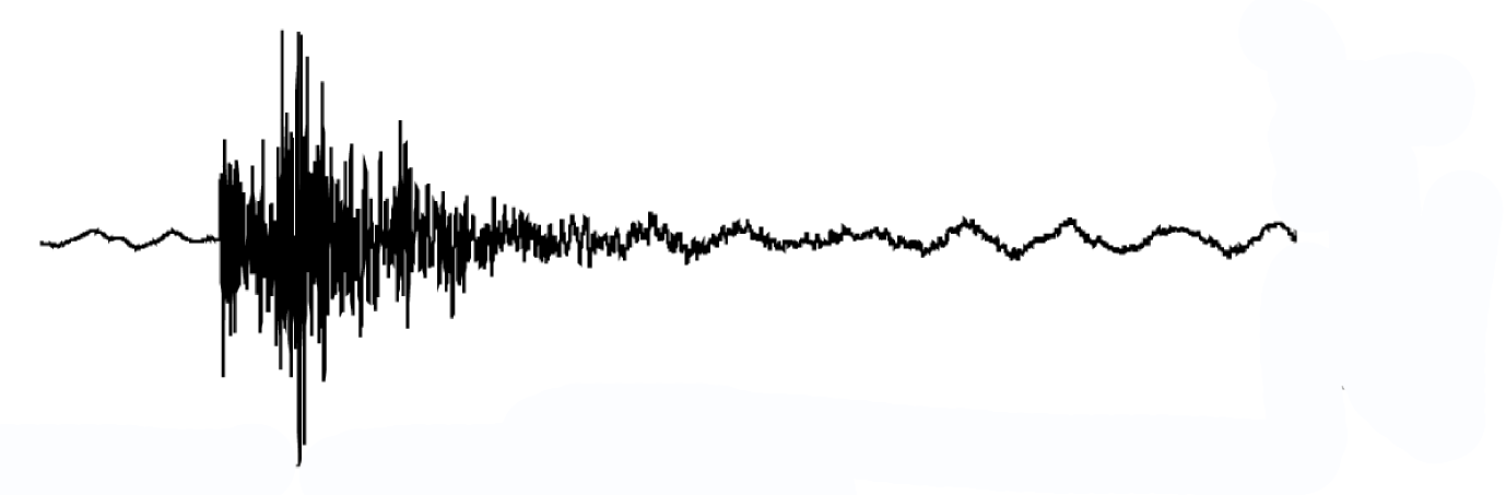 Seismogram of an induced earthquake