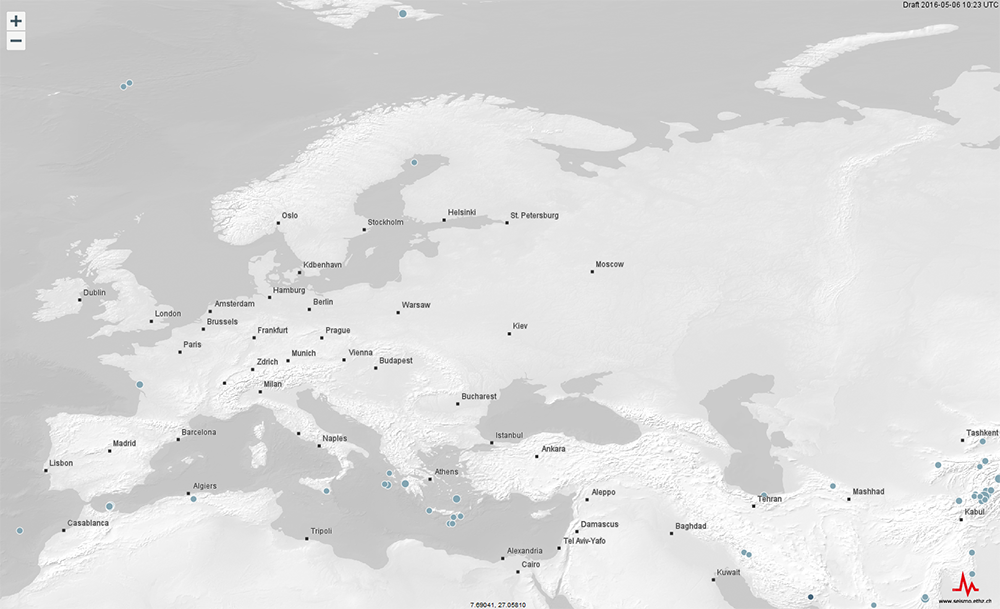 Interactive Map Europe