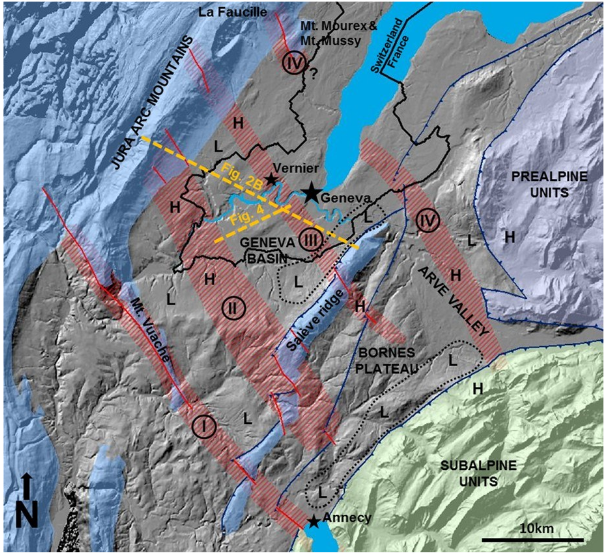 Tectonics of Geneva Basin