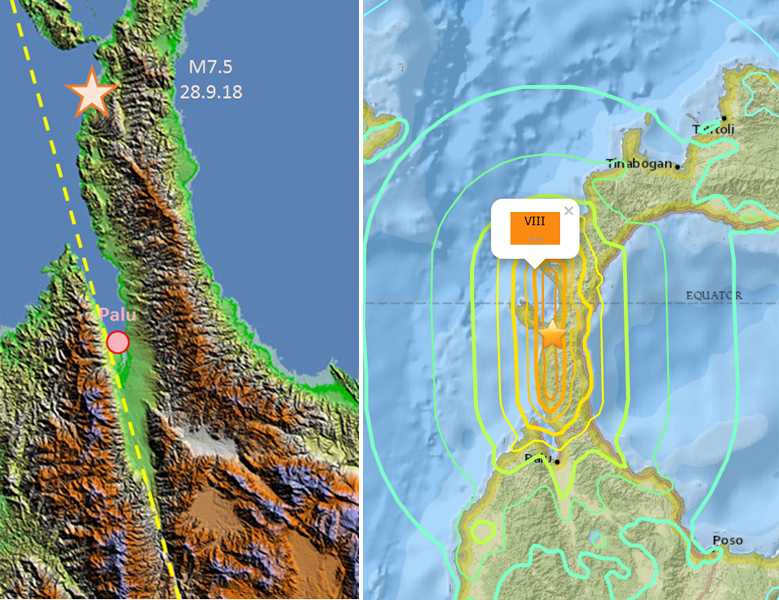 Earthquake and Tsunami in Sulawesi, Indonesia