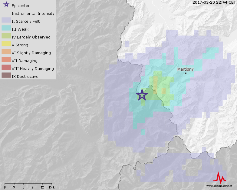 Two Felt Earthquakes Near Vallorcine (F)