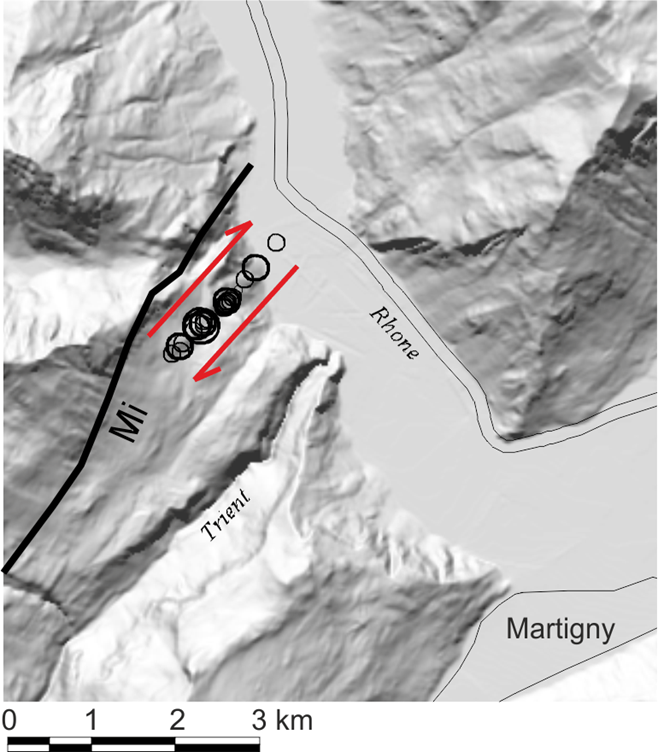 The Martigny earthquake series